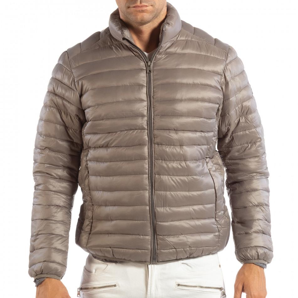 Леко мъжко ватирано яке в сиво it240818-151