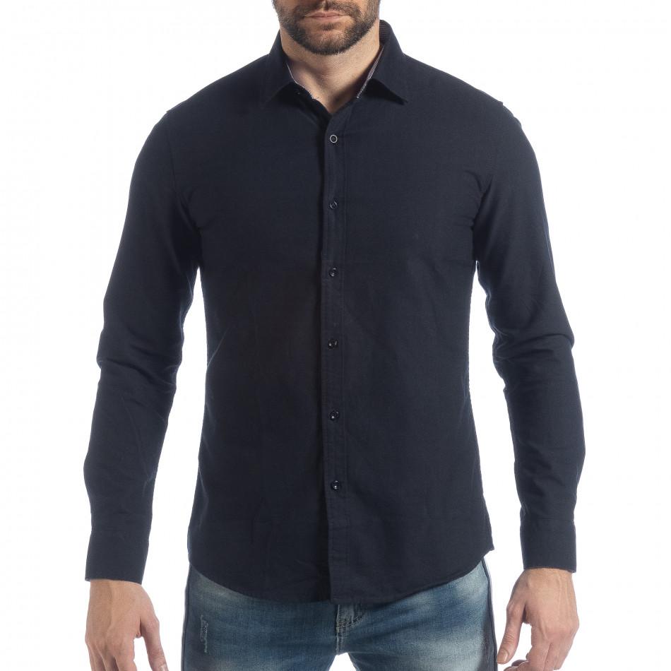 Спортна мъжка синя риза Slim fit it040219-123