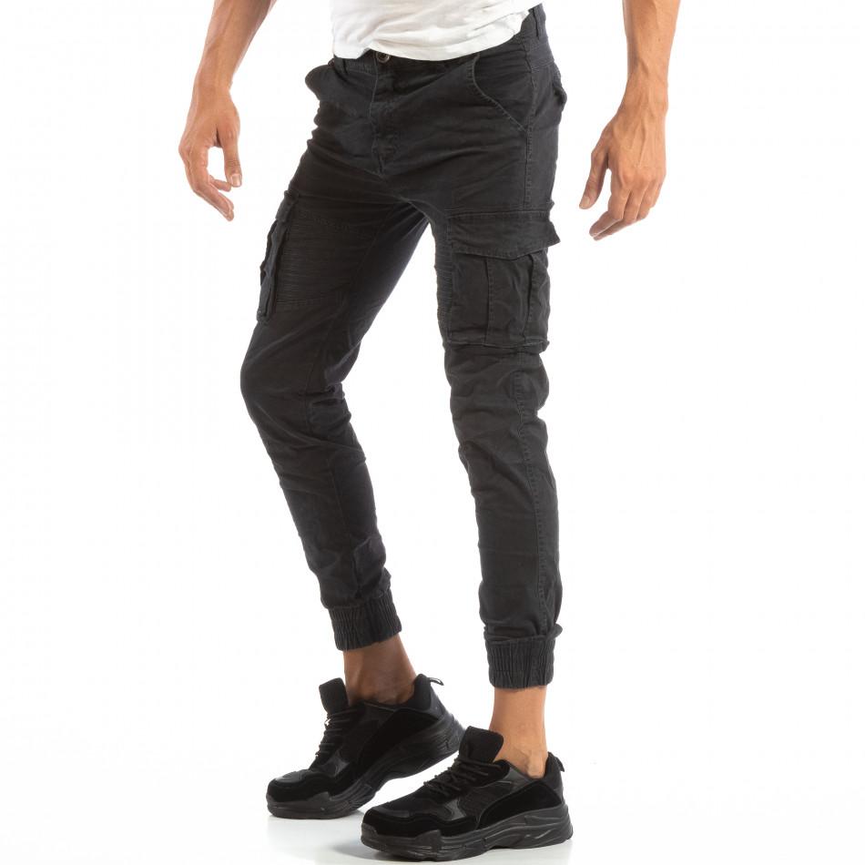 Рокерски сив панталон карго джогър it240818-8