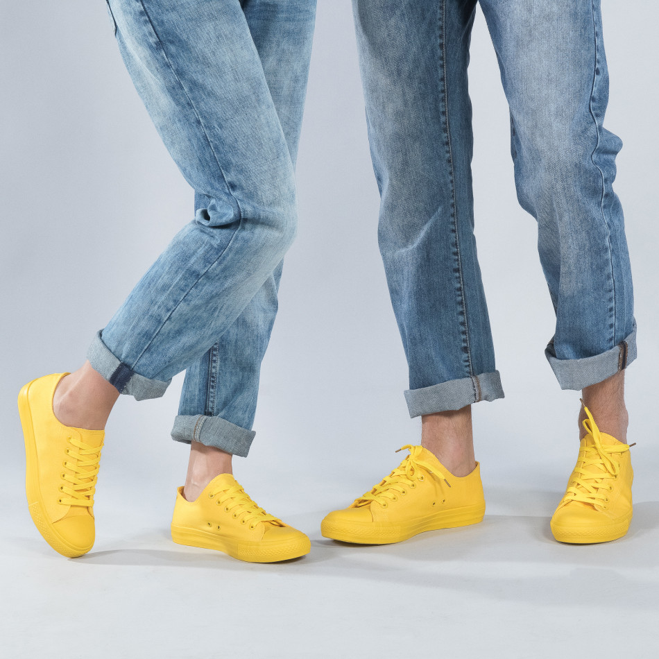 Ярко жълти кецове за двойки cs-yellow-B340-B338