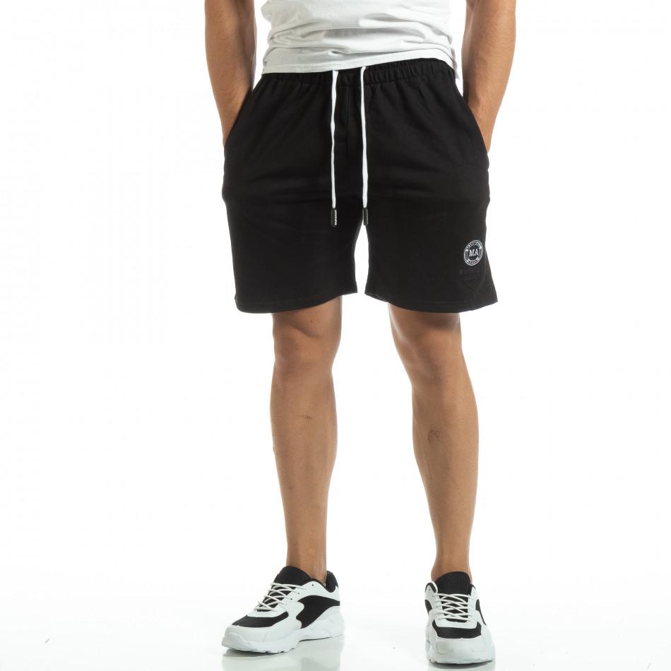 Мъжки шорти трико в черно it120619-13
