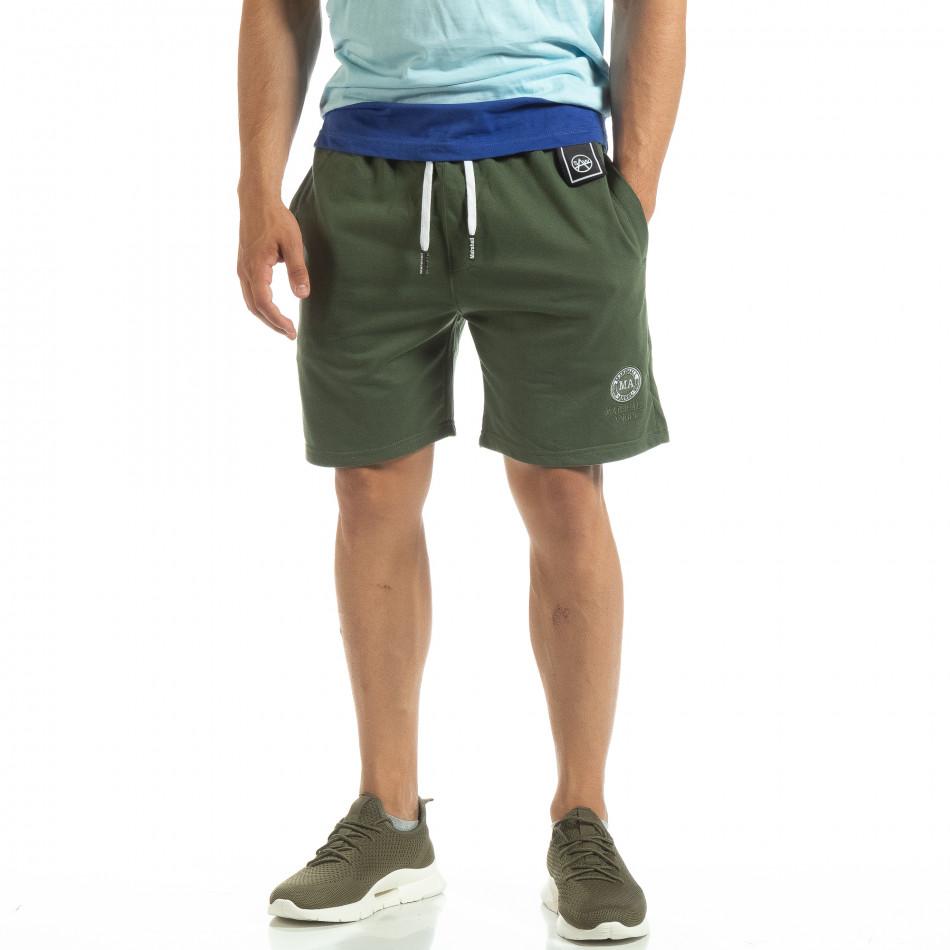 Мъжки шорти трико в зелено it120619-14