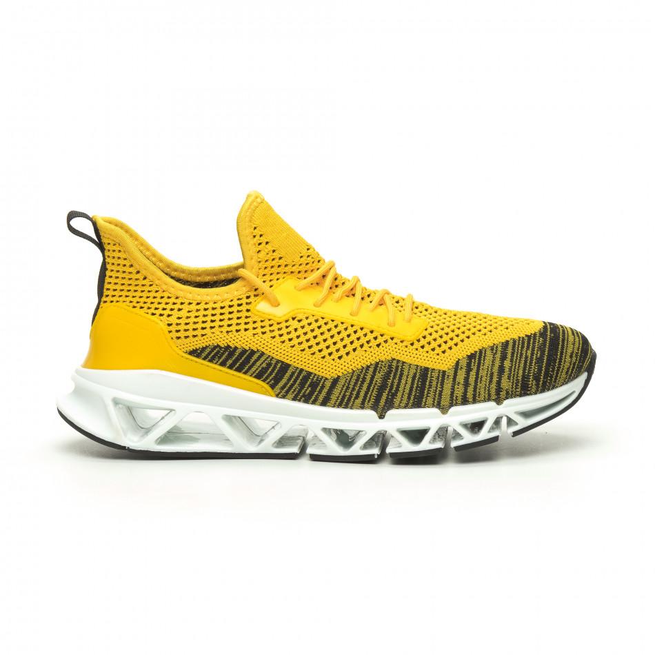 Мъжки маратонки Knife жълто it050719-2