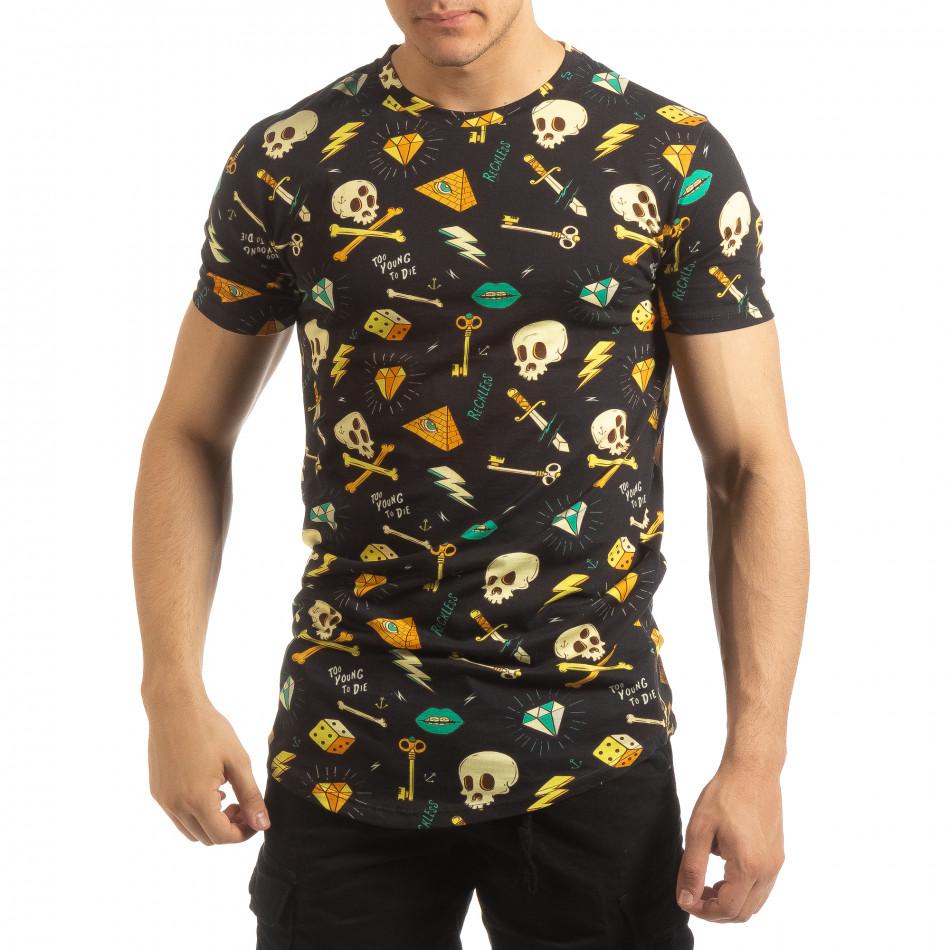 Колоритна мъжка Skull тениска it090519-60