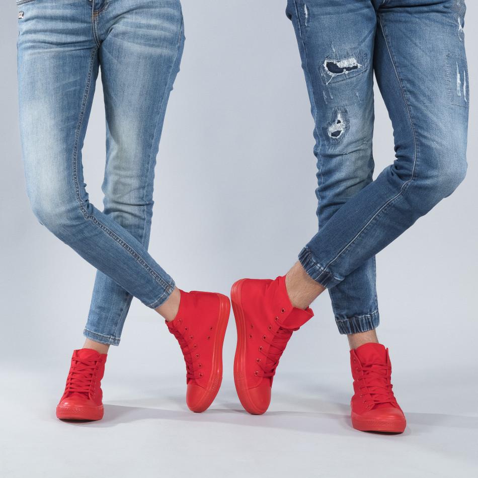 Високи червени кецове за двойки cs-red-B341-B339