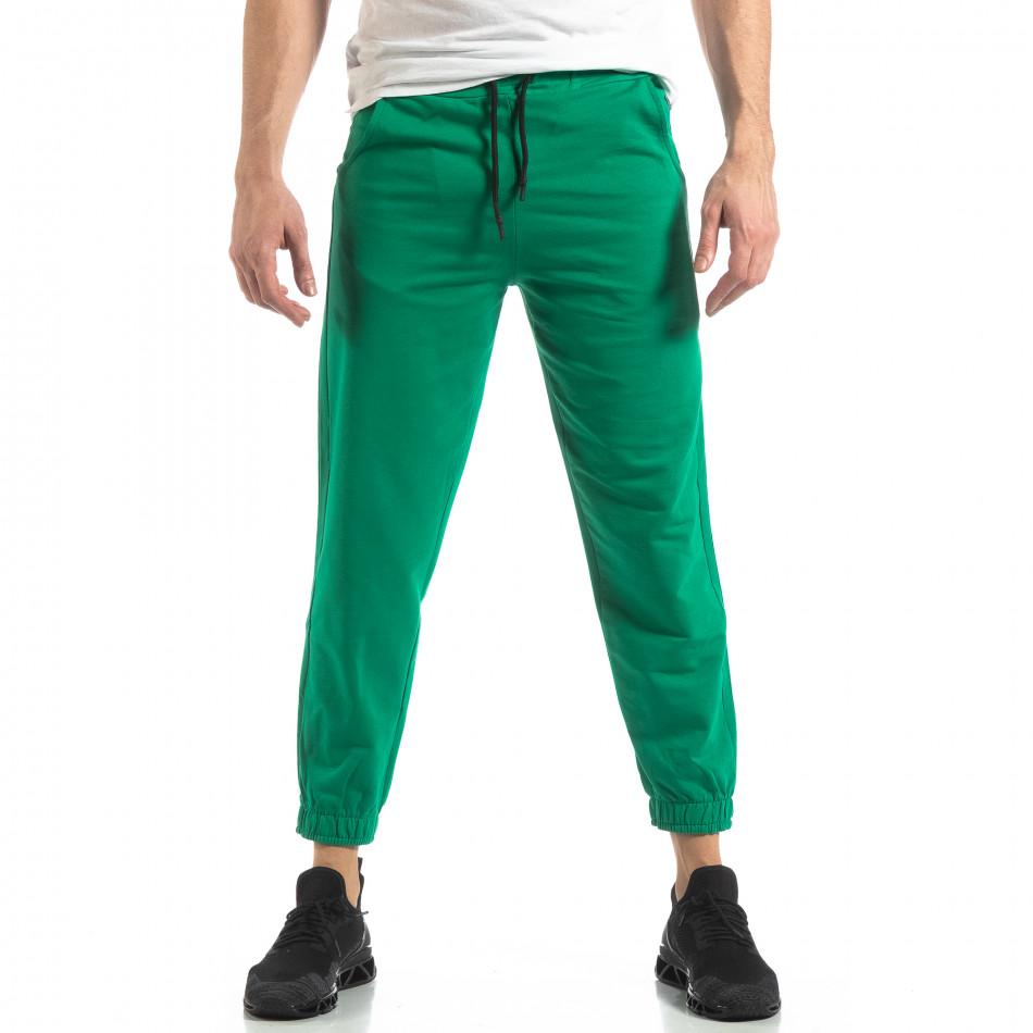 Мъжко зелено долнище с кант it210319-55