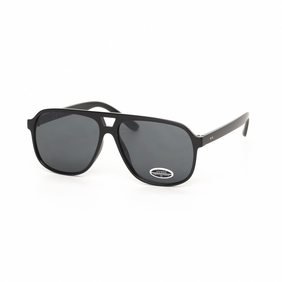 Черни класически трапецовидни слънчеви очила it030519-39