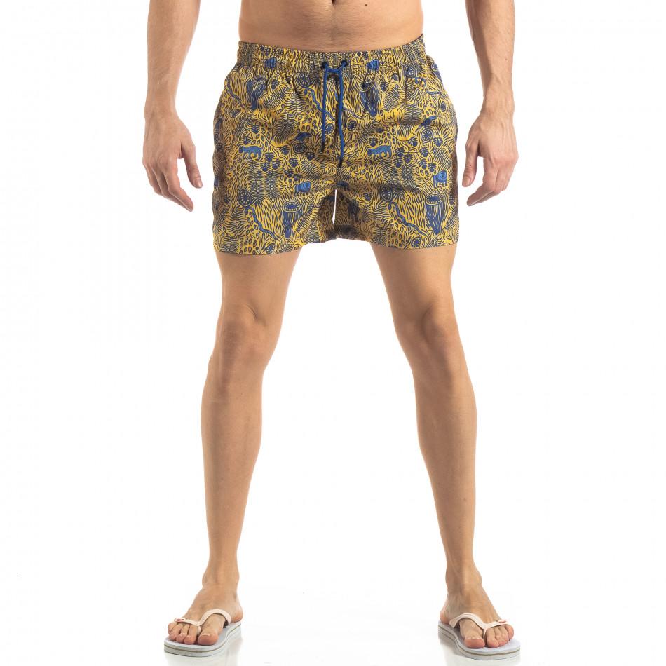 Мъжки жълт бански Savanna дизайн it250319-11