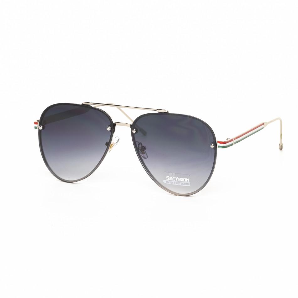 Пилотски очила с плоски стъкла сиво опушено it030519-9