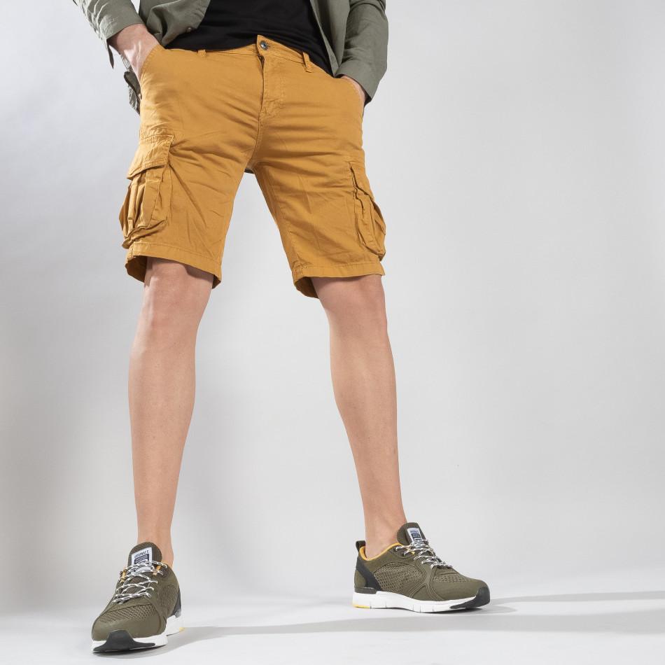 Мъжки карго бермуди цвят камел it210319-43