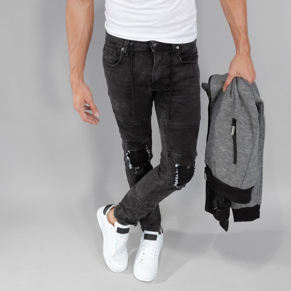 Рокерски сиви мъжки дънки Slim fit it250918-19