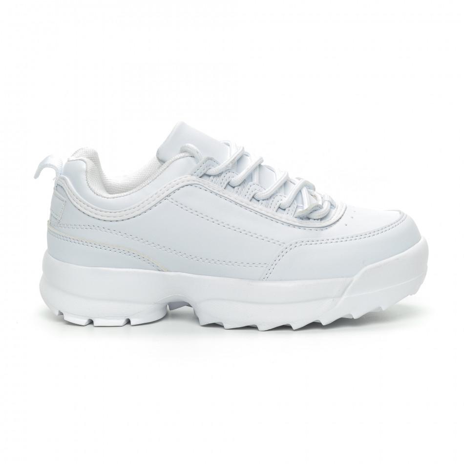 Бели дамски Chunky маратонки it150319-52