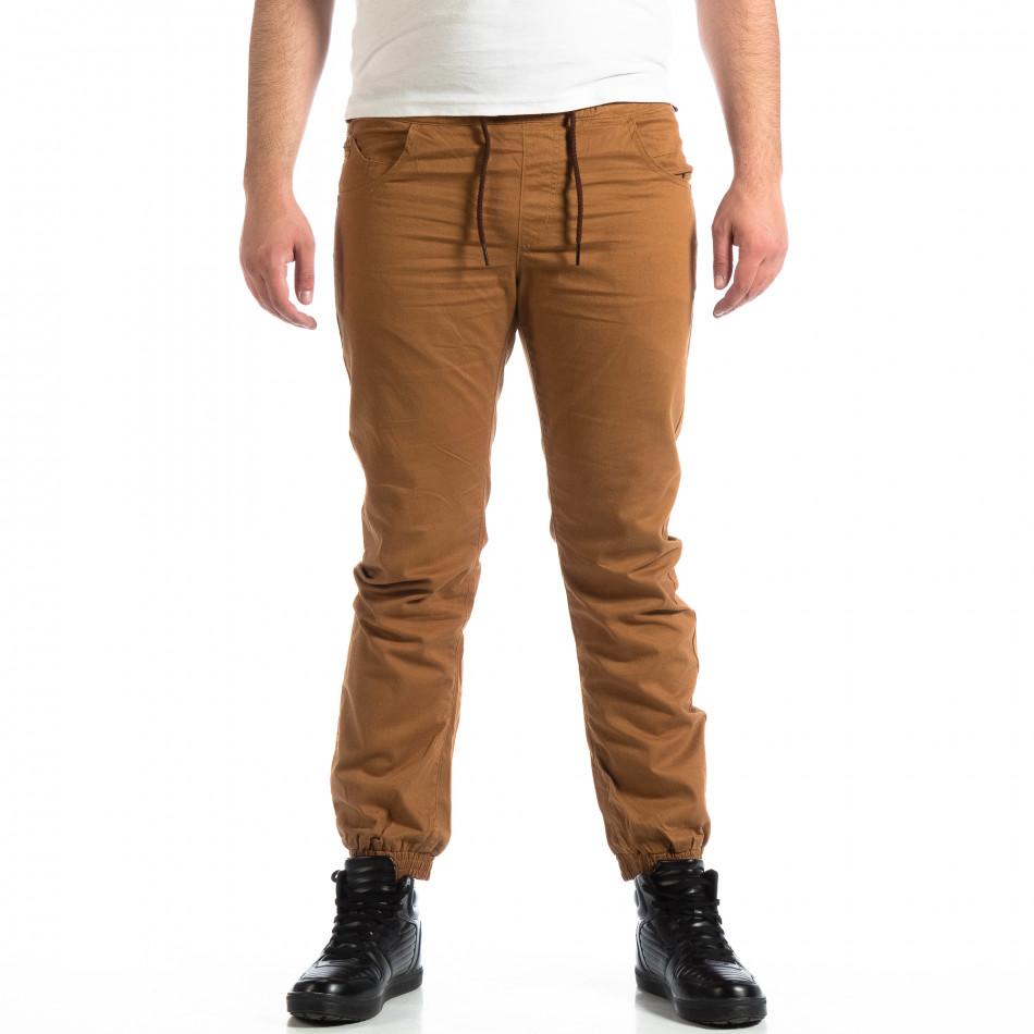 Мъжки Jogger панталон CROPP в цвят камел lp290918-155