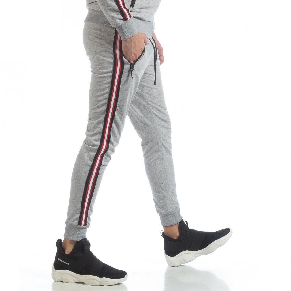 5 striped мъжко сиво долнище it040219-62