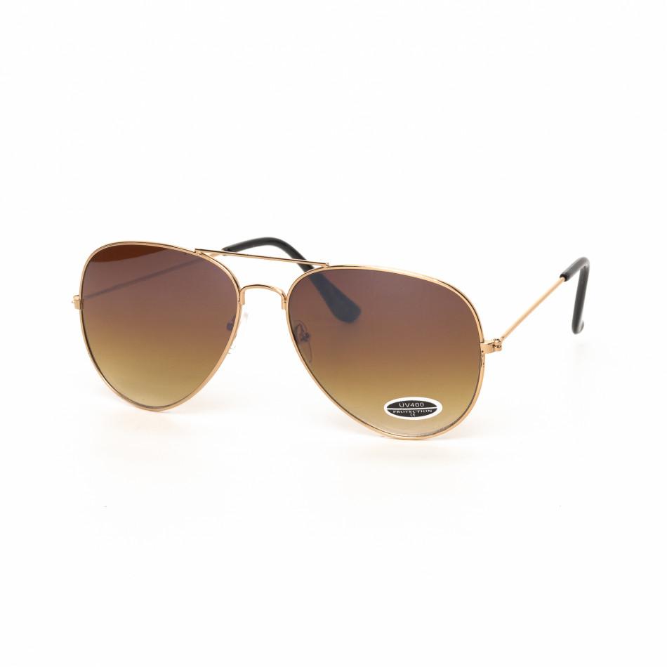 Пилотски слънчеви очила опушено кафяво it030519-16