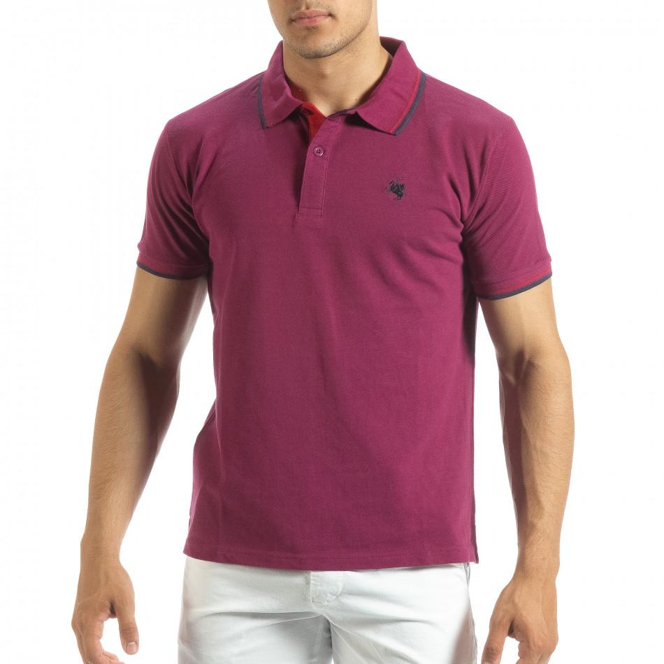 Мъжка тениска polo shirt в червено it120619-27