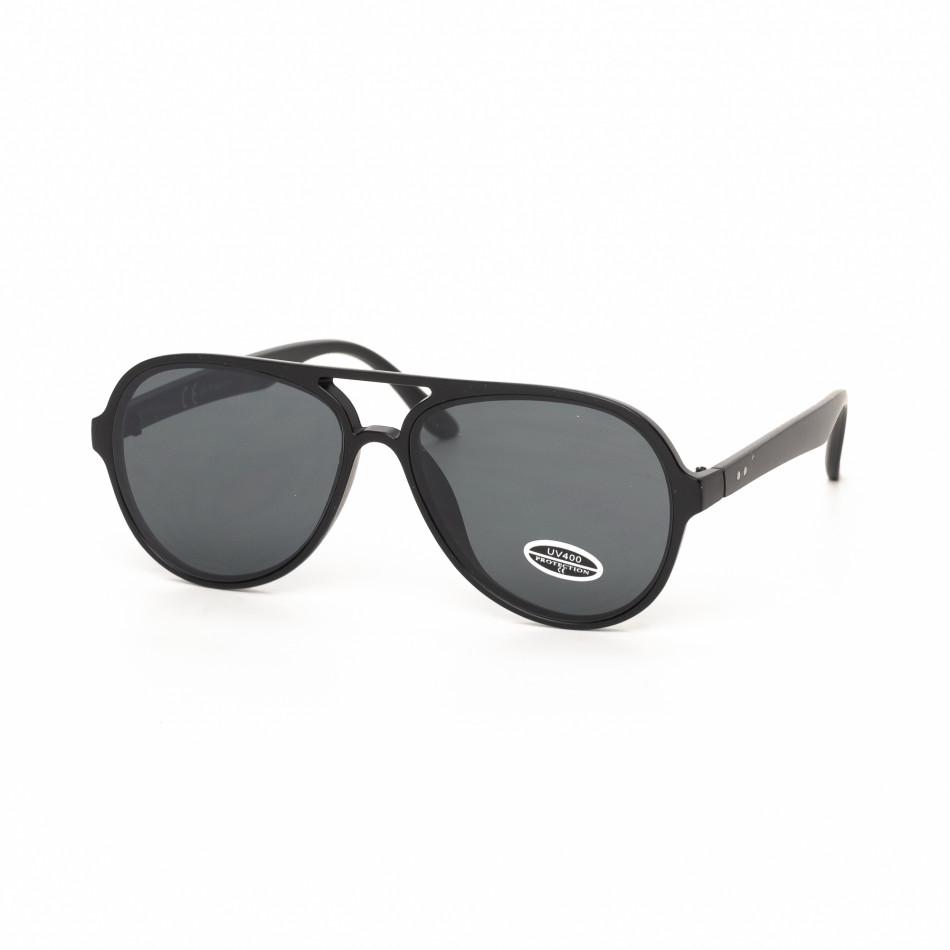 Черни пилотски слънчеви очила плътна рамка it030519-28