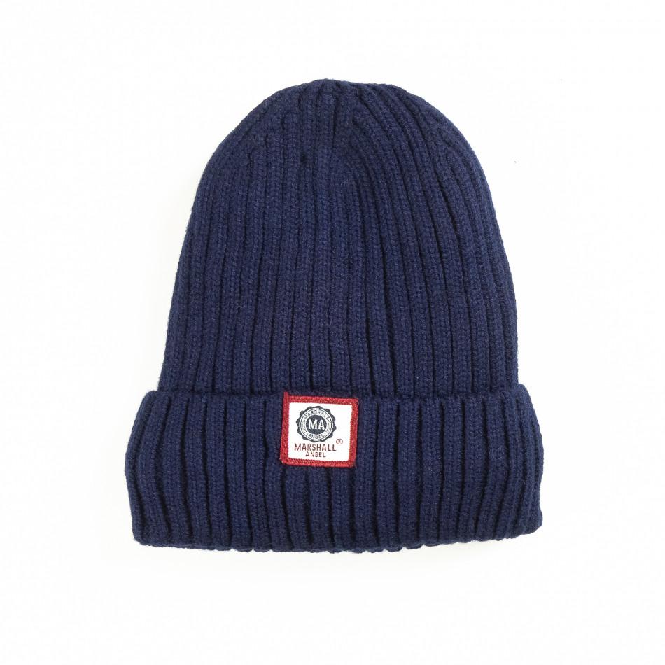 Зимна шапка в синьо с подплата  it051218-80