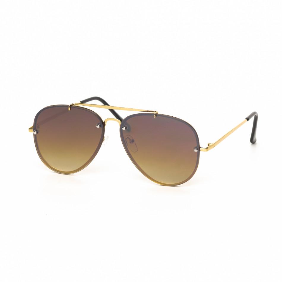 Пилотски очила с плоски стъкла опушено кафяво it030519-12