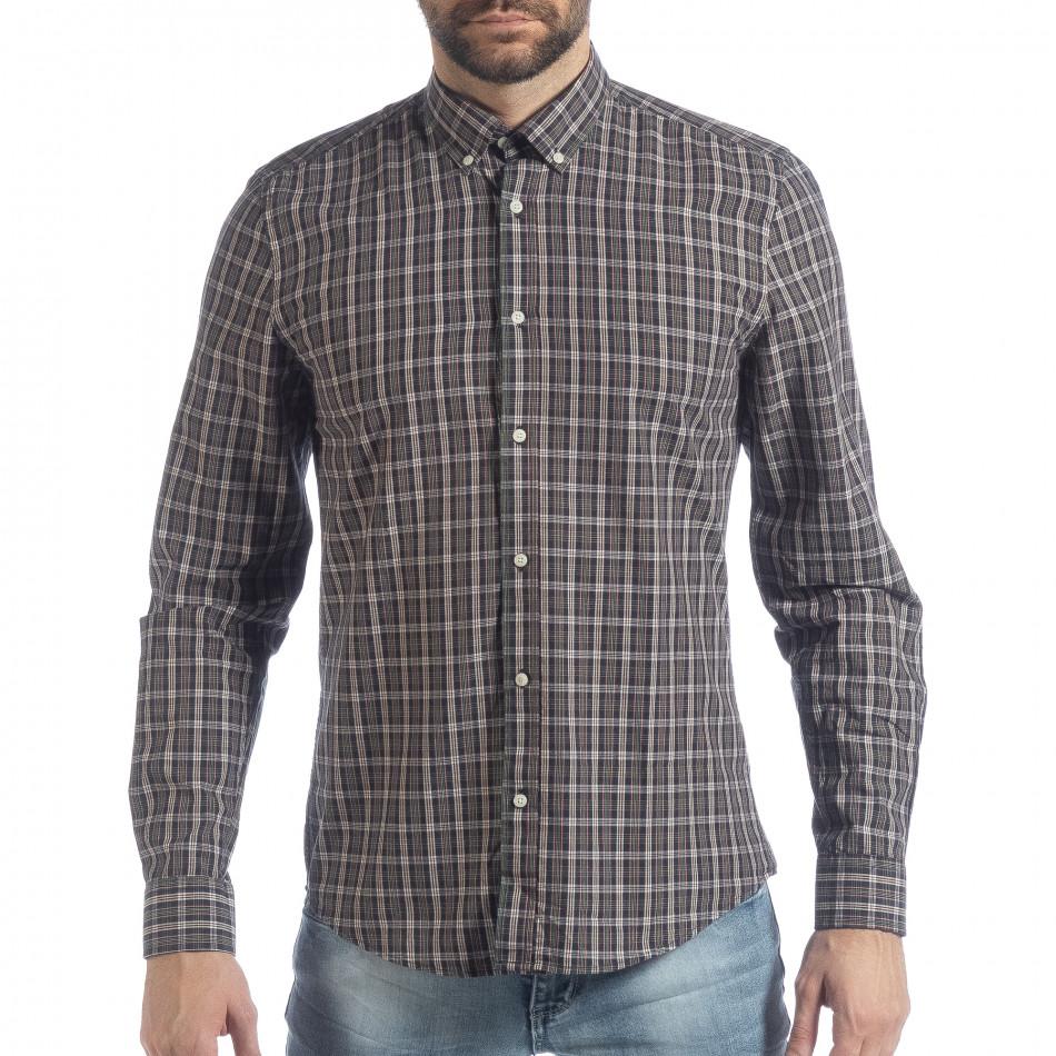 Мъжка карирана риза Slim fit Casual it040219-125