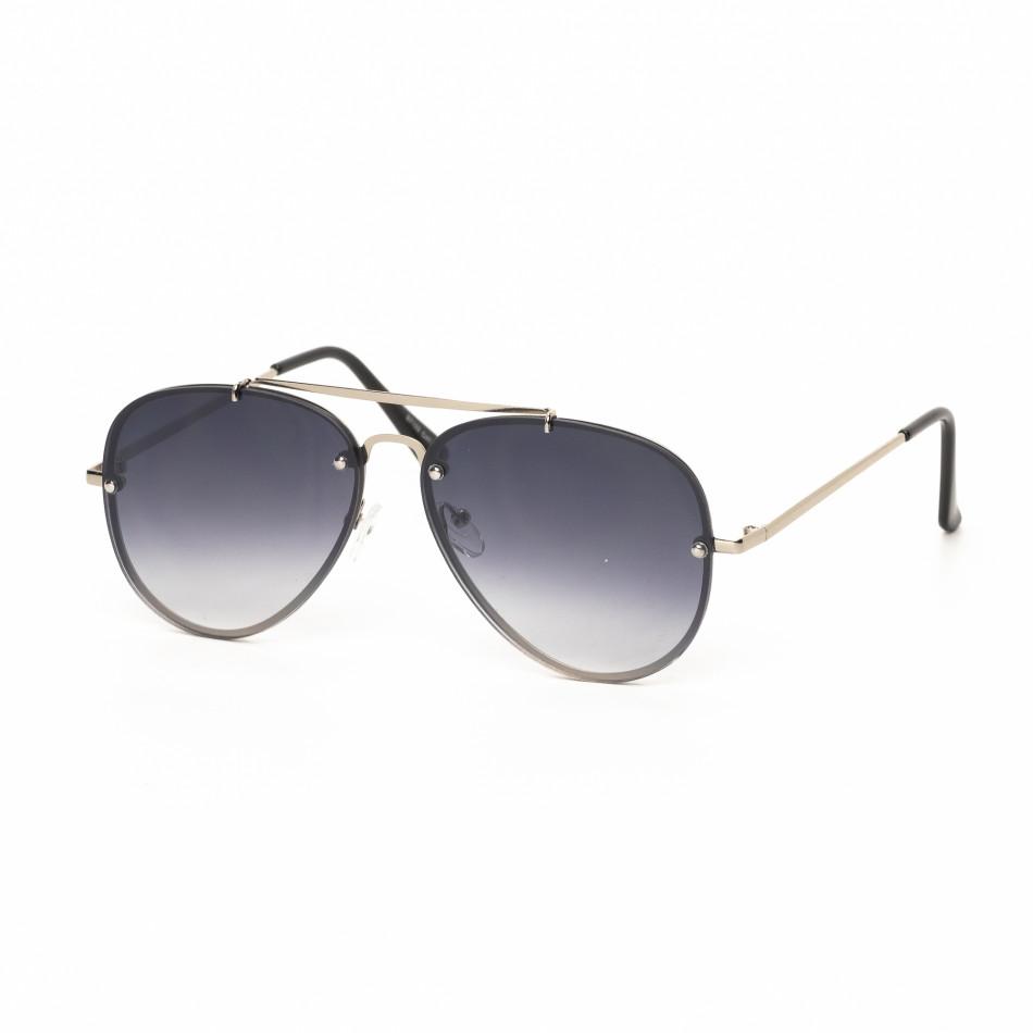 Пилотски очила с плоски стъкла опушено черно it030519-13