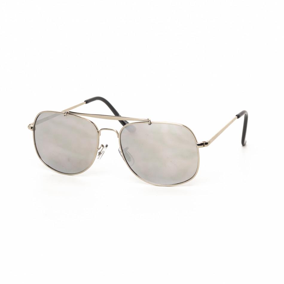 Огледални слънчеви очила сребриста рамка it030519-22