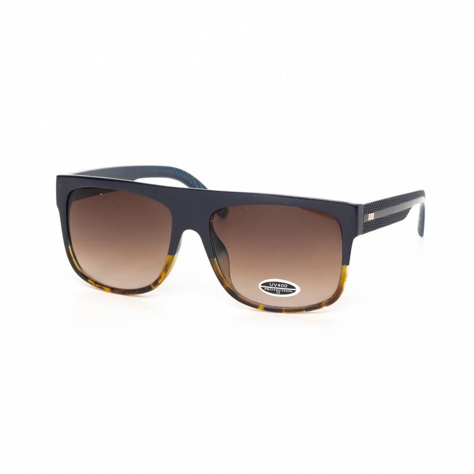Urban слънчеви очила рогова рамка и синьо it030519-19