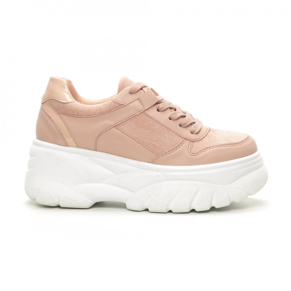 Chunky дамски маратонки в розово it150419-121