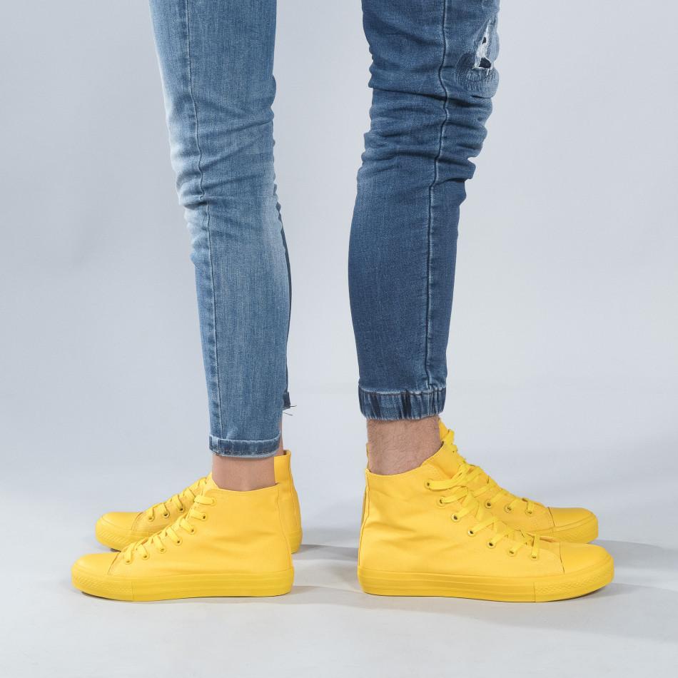 Високи жълти кецове за двойки cs-yellow-B341-B339