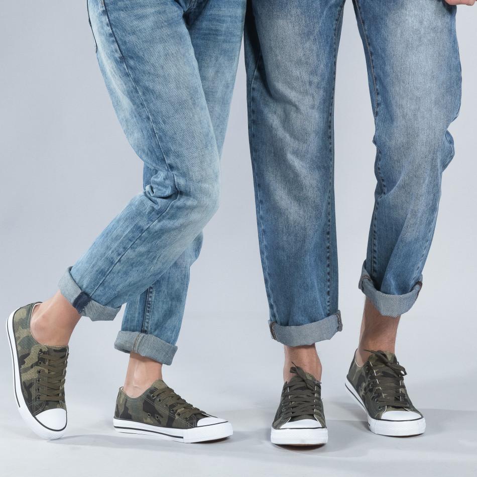 Камуфлажни кецове за двойки с бяла подметка cs-camouflage-A01-B01