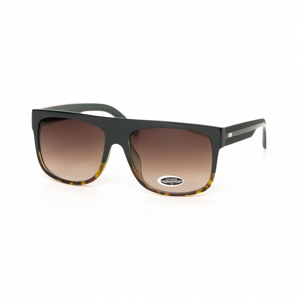 Urban слънчеви очила рогова рамка и зелено it030519-18