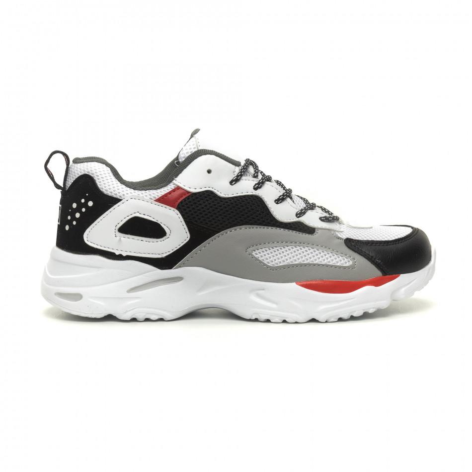 Комбинирани мъжки Chunky маратонки в бяло it040619-9