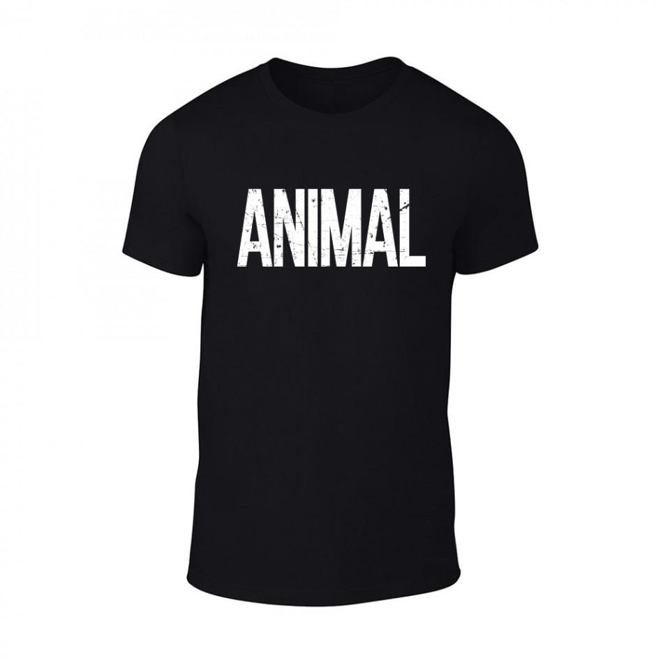 Мъжка черна тениска Animal TMN-M-068