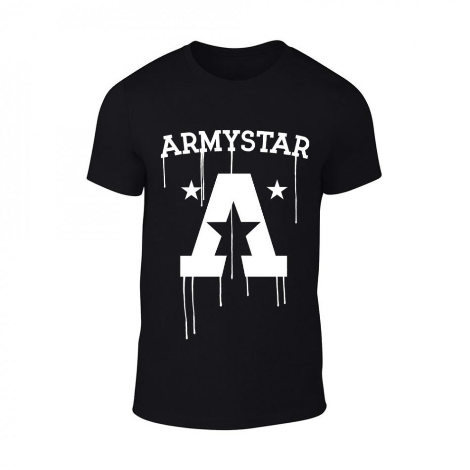 Мъжка черна тениска Armystar TMN-M-074