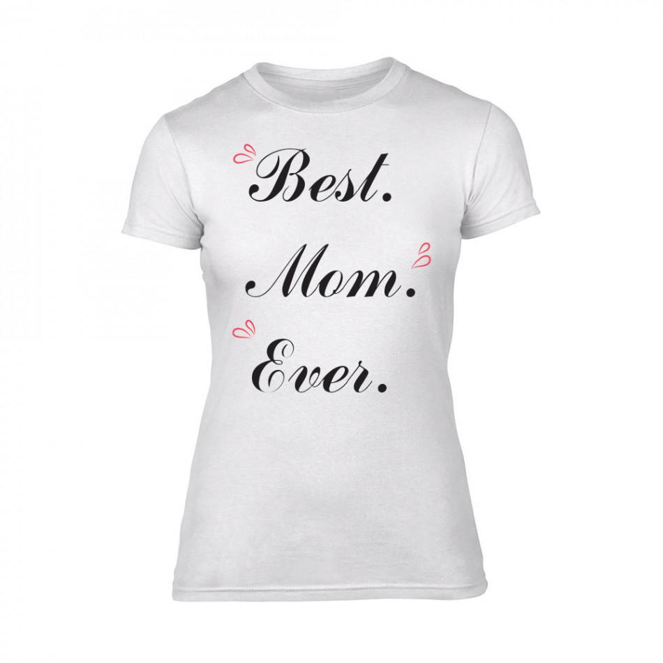 Дамска бяла тениска Best Mom Ever TMN-F-081