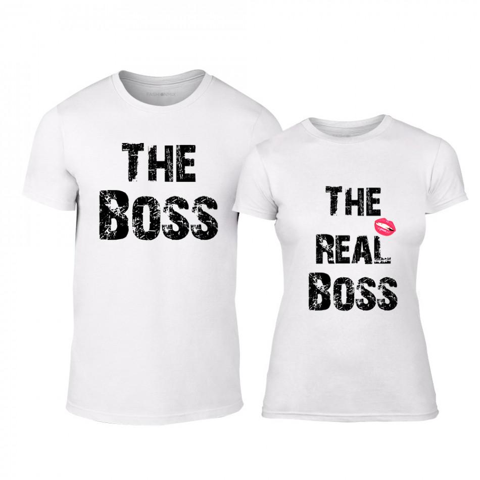 Тениски за двойки The Boss The Real Boss бели TMN-CP-139