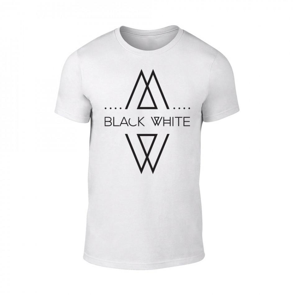 Мъжка бяла тениска Black White TMN-M-069