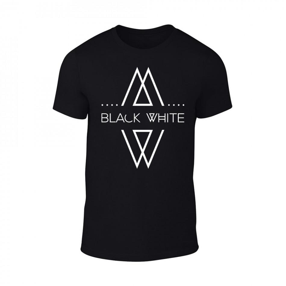 Мъжка черна тениска Black White TMN-M-070