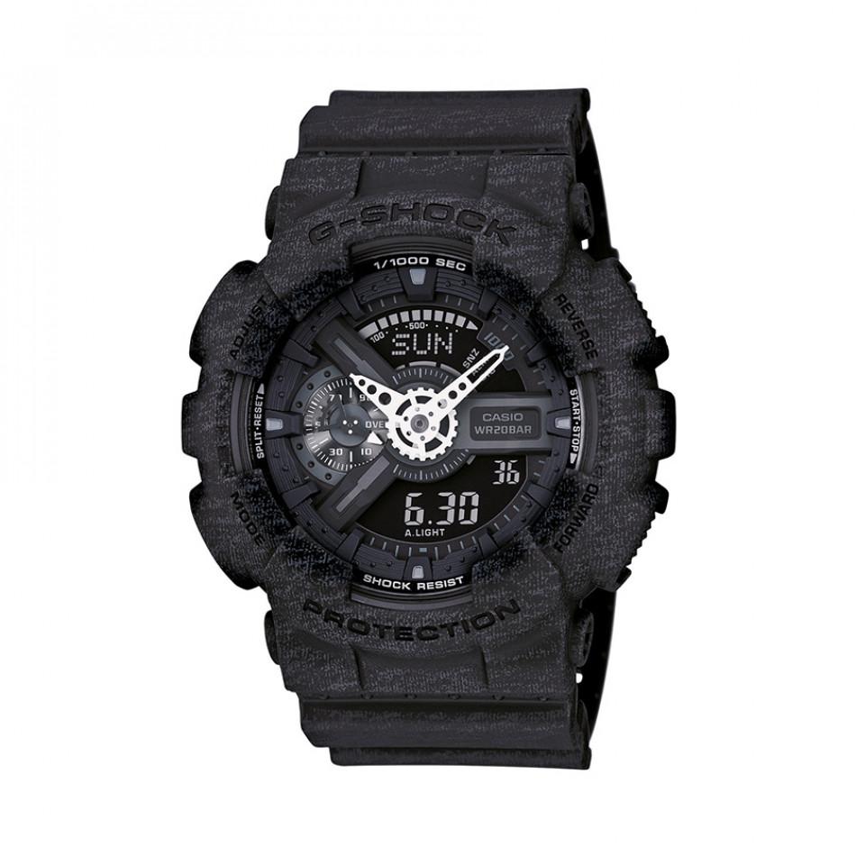 Мъжки спортен часовник Casio G-SHOCK черен със захабен ефект GA110HT1AER