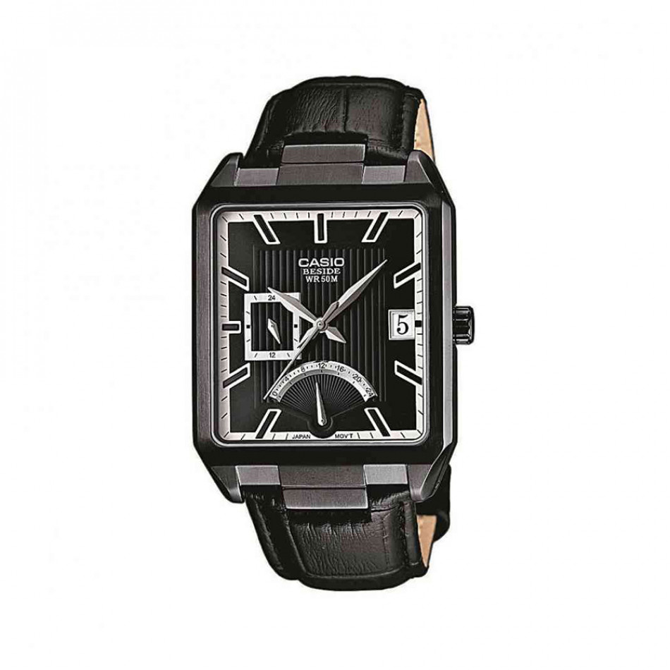 Мъжки часовник Casio Beside черен с двойно време BEM309BL1AVEF