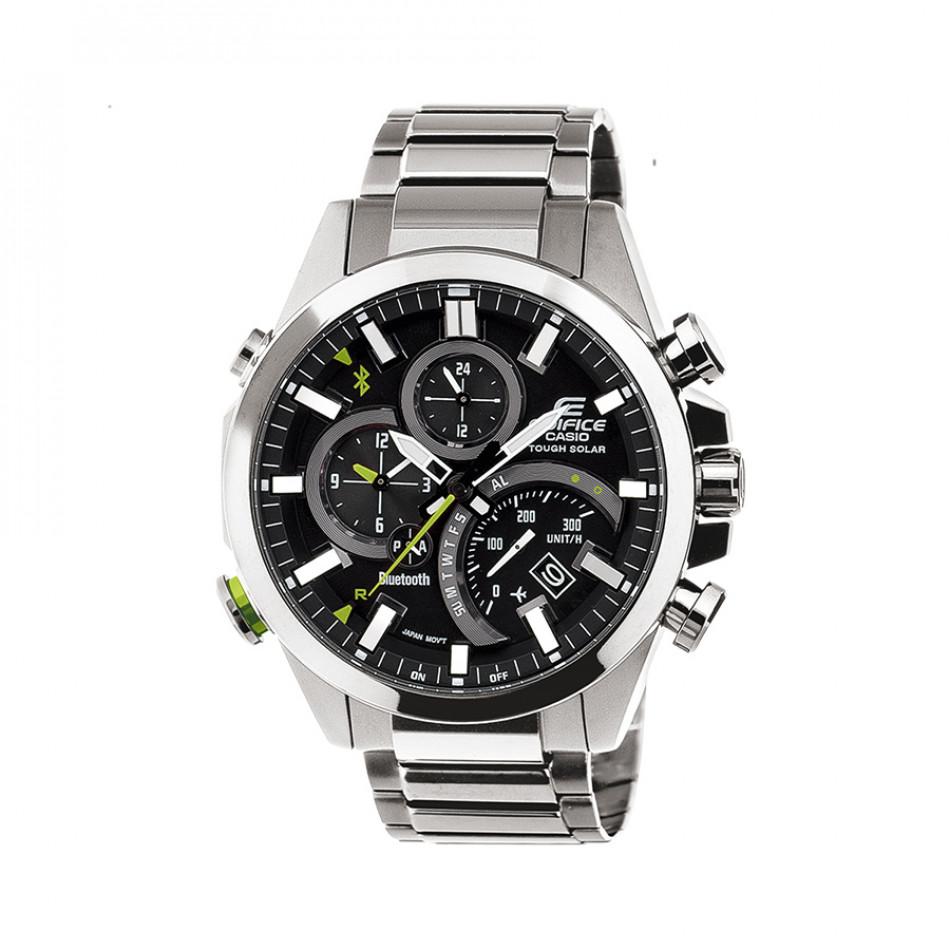 Мъжки часовник Casio Edifice сребрист браслет с Bluetooth EQB500D1AER