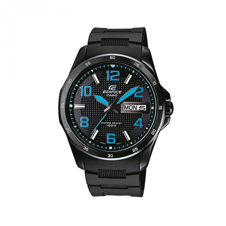 Мъжки часовник Casio Edifice черен със сини стрелки и сини цифри EF132PB1A2VER