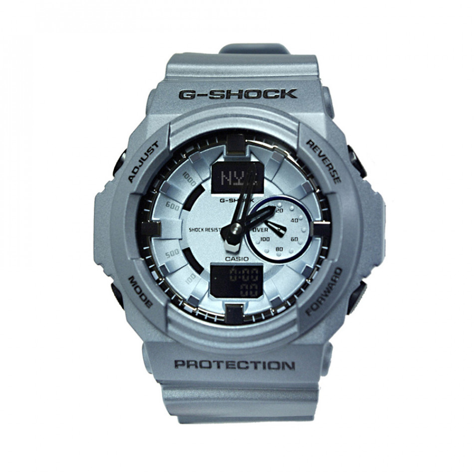Мъжки спортен часовник Casio G-SHOCK сребристо син GA150A2AER
