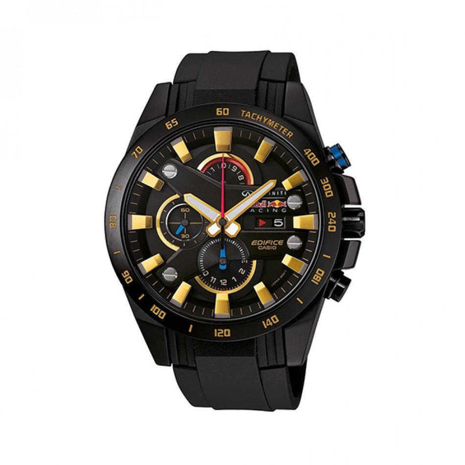 Мъжки часовник Casio Edifice черен със златисти индекси EFR540RBP1AER