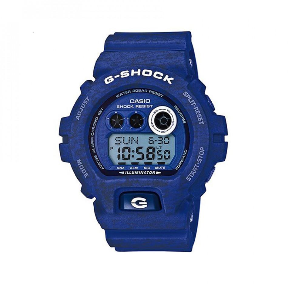 Мъжки спортен часовник Casio G-SHOCK син с двуцветни надписи GDX6900HT2ER