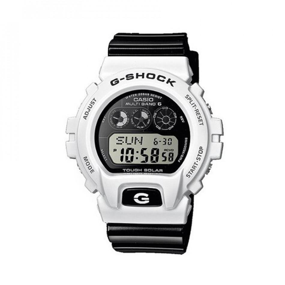 Мъжки спортен часовник Casio G-SHOCK с бяла каса и черна каишка GW6900GW7ER