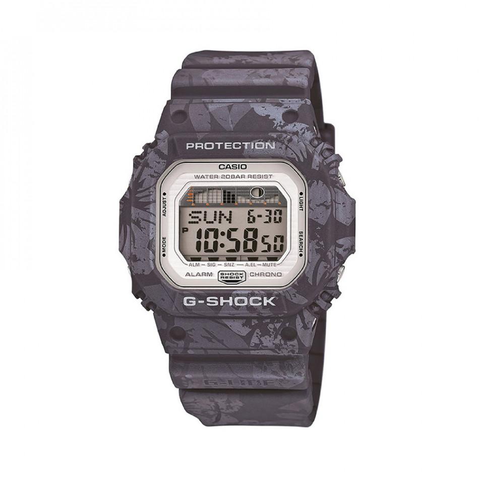 Мъжки спортен часовник Casio G-SHOCK сив с цветя по каишката GLX5600F8ER