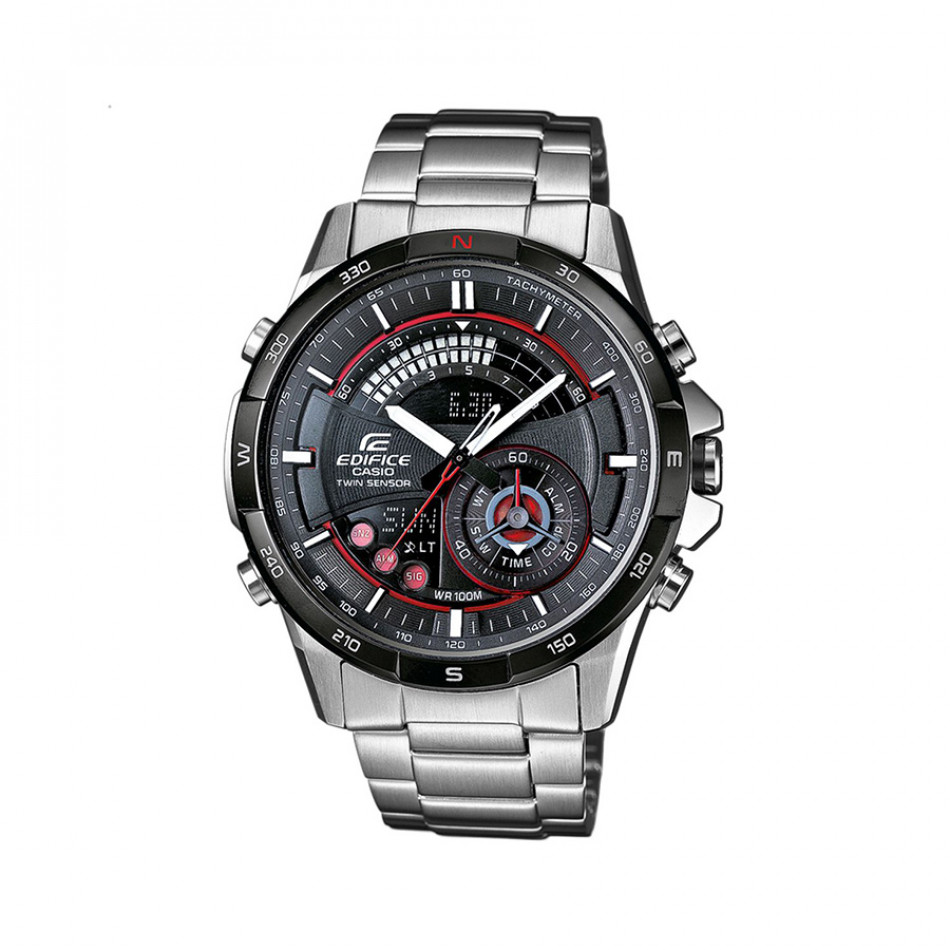 Мъжки часовник Casio Edifice сребрист браслет с термометър ERA200DB1AVER