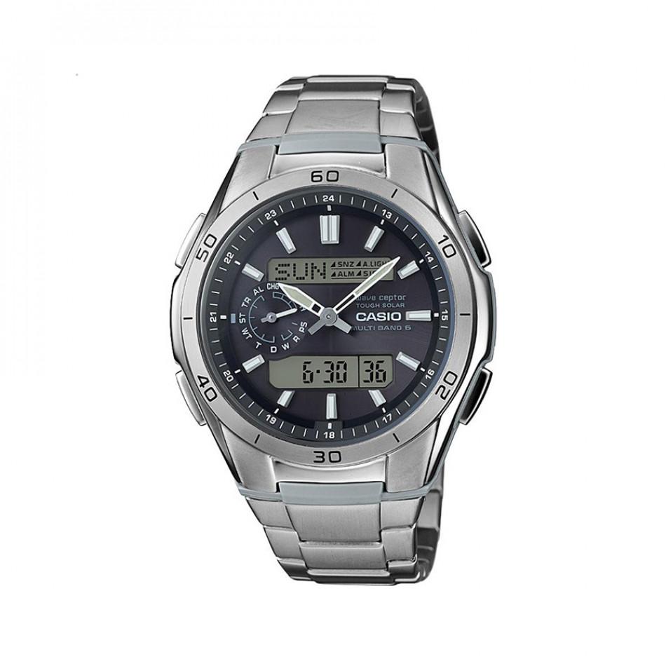 Мъжки часовник Casio Collection сребрист браслет с автоматичен календар WVAM650TD1AER