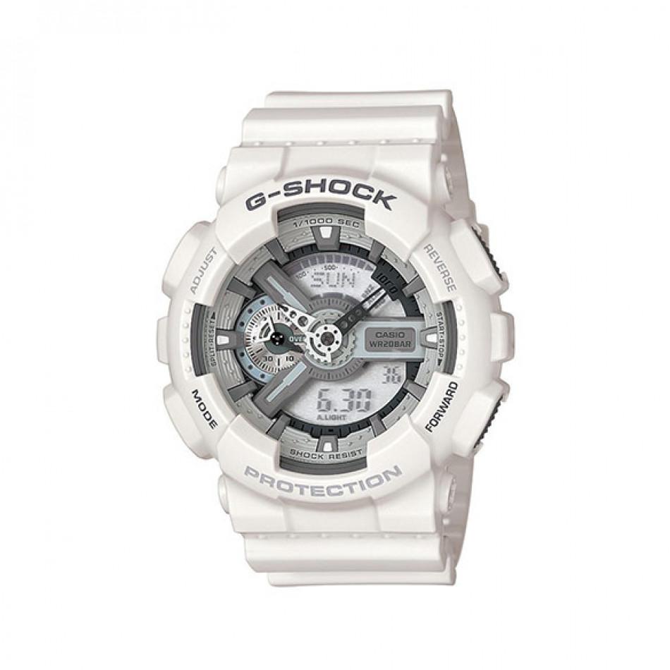 Мъжки спортен часовник Casio G-SHOCK бял със сиви надписи GA3007AER
